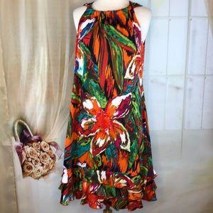 R&K Halter Colorful Dress